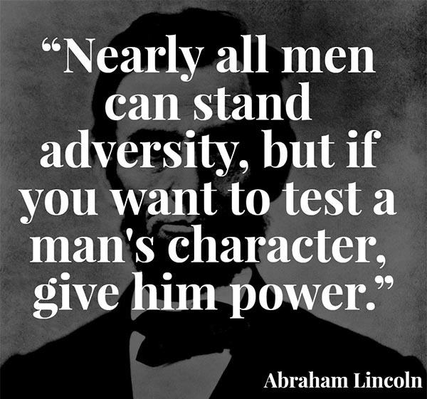 Abraham Lincoln Quote Power