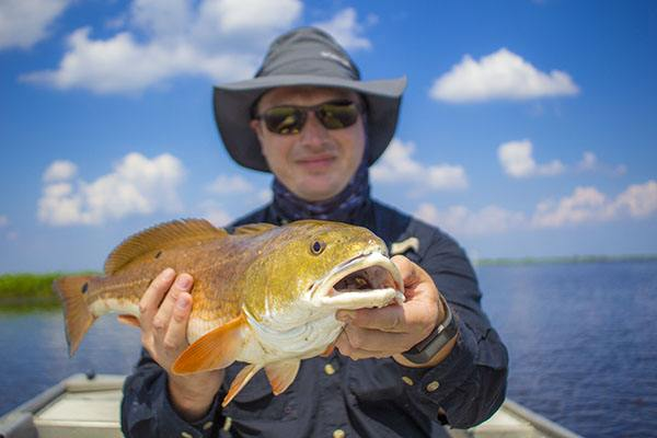 Angler with Redfish
