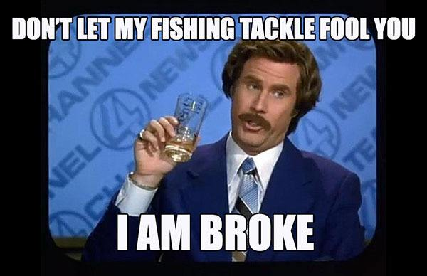ron burgundy fishing tackle