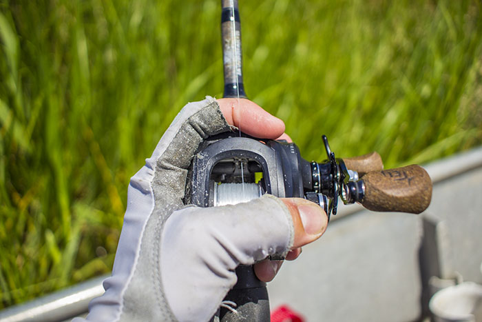 Grip for Jigging with Baitcaster