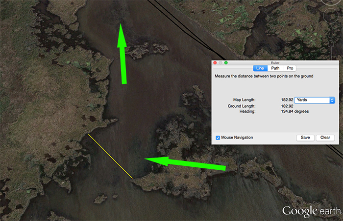 Satellite Imagery showing Aquatic Grass - How to find redfish spots