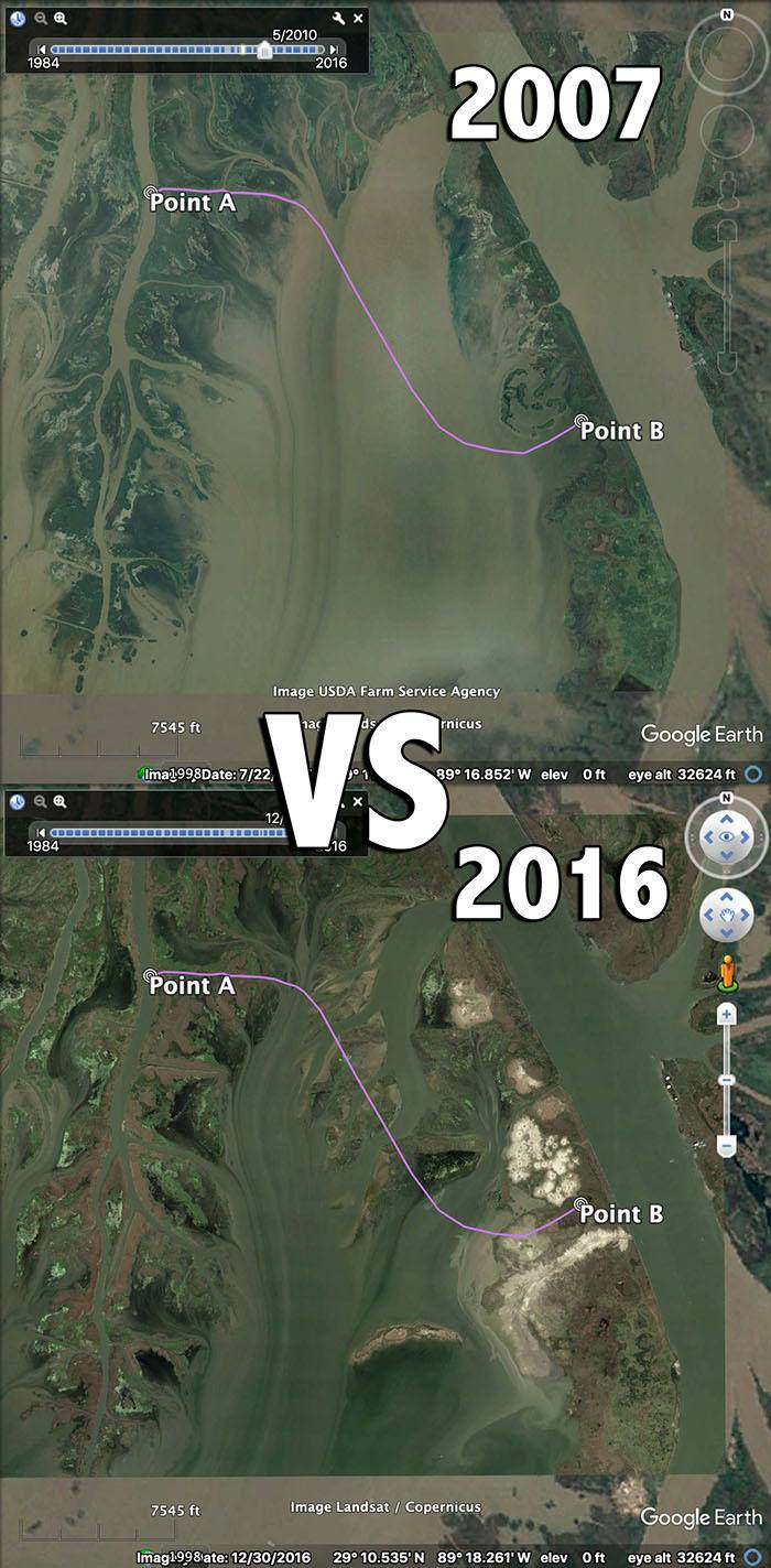 Venice West Bay 2007 vs 2016