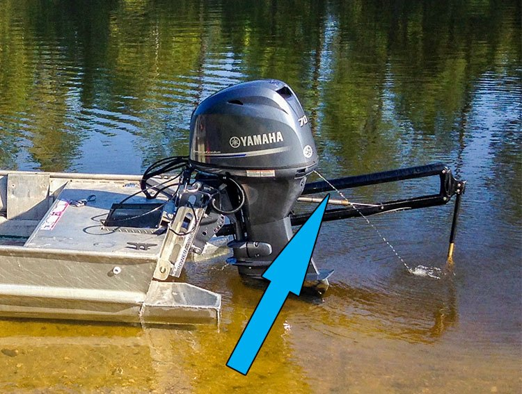Yamaha Outboard Motor Peeing