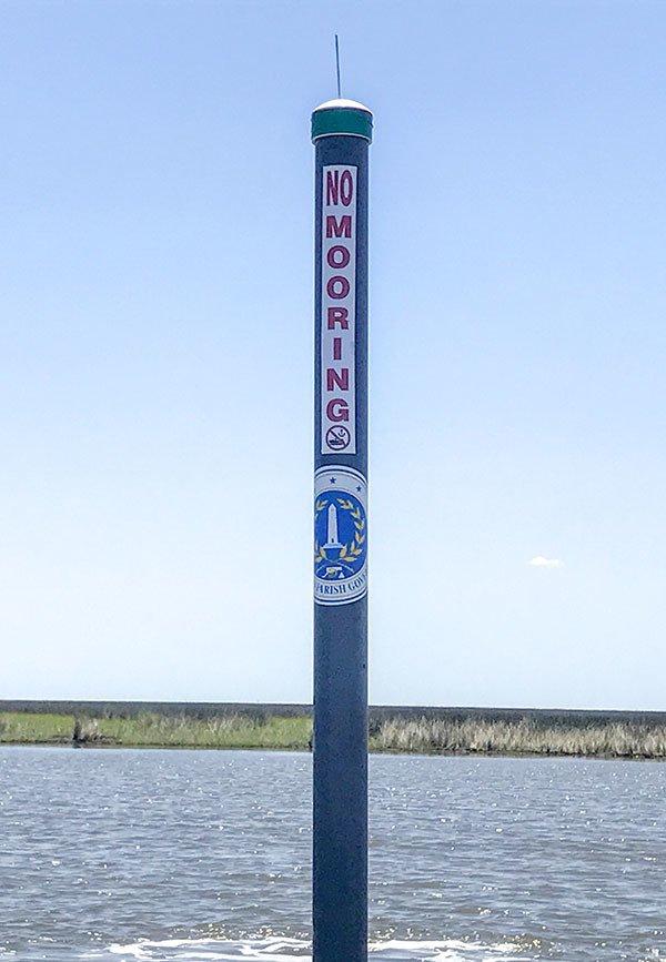 grey pole marker spoil canal hopedale louisiana