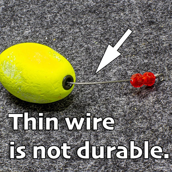 thin wire is easily bent by redfish